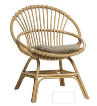traditional rattan chair BRIGITTE: 820XL KOK MAISON