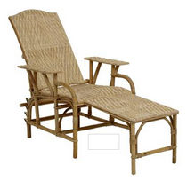 traditional rattan lounge chair 859 KOK MAISON