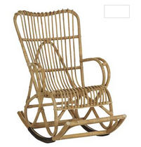 traditional rattan rocking armchair 629/4 KOK MAISON