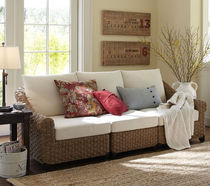 traditional rattan sofa HOLBROOK POTTERYBARN