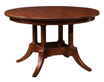 traditional round extending table PLYMOUTH NICHOLS & STONE