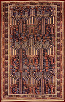 traditional rug in wool ANTIQUE SHIRWAN MOGAN bersanetti giovanni