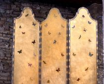 traditional screen Moro screen Gold leaf Porte Italia Interiors