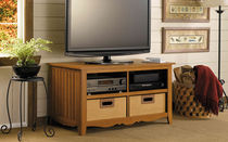 traditional solid wood TV cabinet CASUAL BUSH INDUSTRIES