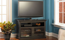 traditional solid wood TV cabinet CLASSIC BUSH INDUSTRIES