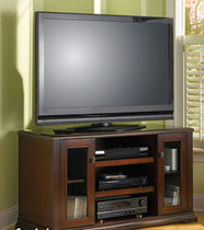 traditional solid wood TV cabinet MANSFIELD BUSH INDUSTRIES