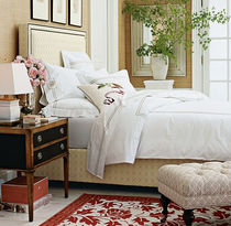 traditional upholstered headboard for double bed GRAMERCY Williams Sonoma Home