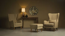 traditional wingchair with footstool SI-T-130GR Signature Home Collection
