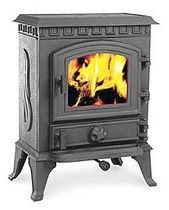 traditional wood-burning stove (cast iron) CATHEDRAL: YORK PETITE Broseley Fires