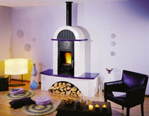 traditional wood-burning stove (ceramic) AGERTEN CHEMINEES PHILIPPE