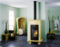 traditional wood-burning stove (ceramic) ALOSEN CHEMINEES PHILIPPE