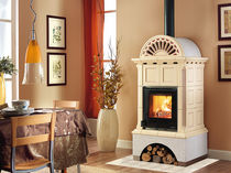 traditional wood-burning stove (ceramic) ANTHEA SILK VOGUE Nordica