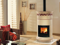 traditional wood-burning stove (ceramic) VENERE SILK VOGUE AMETISTA Nordica