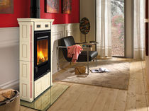 traditional wood-burning stove (ceramic) DORIS SILK VOGUE AMETISTA Nordica