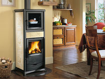 traditional wood-burning stove (ceramic, with oven) ROSSELLA PLUS Nordica