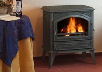 traditional wood-burning stove (Double combustion, cast iron) DOVRE 640 CB DOVRE France