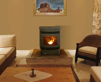 traditional wood pellet stove SANTA FE QUADRA-FIRE