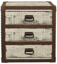 traditional wooden chest of drawers BOB BLANC D'IVOIRE