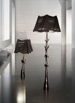 traditional wooden floor lamp BLACK LABEL MULETAS & CAJONES lamp-sculpture bySalvador Dalí BD Barcelona Design