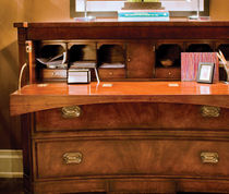 "traditional wooden secretary desk by ""Mixmaster"" Eric Cohler Lee Jofa"