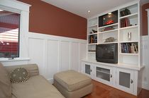 traditional wooden TV wall unit  Grey Design Studio