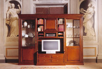 traditional wooden TV wall unit MAISON PHILIPPE Stilema