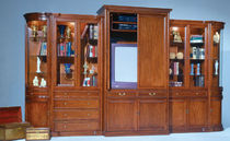traditional wooden TV wall unit  LEDA Furniture