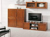 traditional wooden TV wall unit ART.300 Arte Antiqua di Zen Adriano