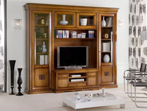 traditional wooden TV wall unit BOVOLONE : 1158 VACCARI CAV. GIOVANNI
