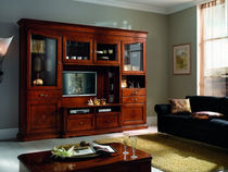 traditional wooden TV wall unit FIRENZE : 901 VACCARI CAV. GIOVANNI