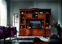traditional wooden TV wall unit FIRENZE : 907 VACCARI CAV. GIOVANNI