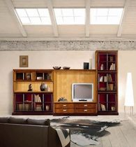 traditional wooden TV wall unit COMP. 19 STELLA DEL MOBILE