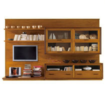 traditional wooden TV wall unit AB001 BIZZOTTO ITALIAN SENSATIONS