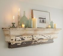 traditional wooden wall shelf DECORATIVE LEDGE POTTERYBARN