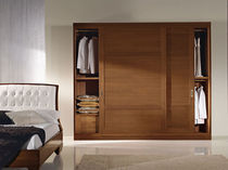 traditional wooden wardrobe with sliding doors ANGEL BIZZARRI MOBILIFICIO