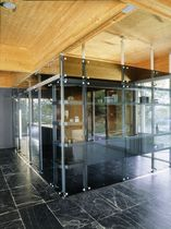 translucent glass removable partition SAIL ALBED