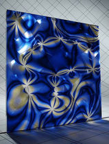 translucent patterned glass panel POND FLOWER lumigraf