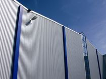trapezoidal profiled sheet metal facade cladding  BEMO SYSTEMS FRANCE