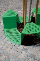 tree corset with integrated public bench SINUS by David Karásek, Radek  Hegmon  mmcité