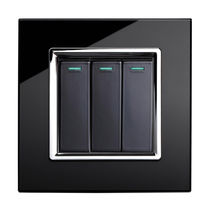 triple light switch (glass finishing) RTS2005 retrotouch