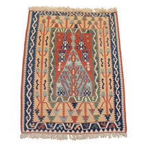 turkish kilim rug in wool KONYA GALERIE GIRARD