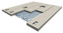 underfloor heating system for concrete deck slab CLIMADECK Echo