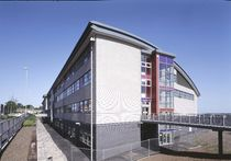 ventilated ceramic facade panel TERRART® SHINGLE NBK Keramik