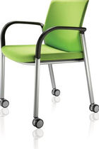 visitor chair with casters IS Task Systems