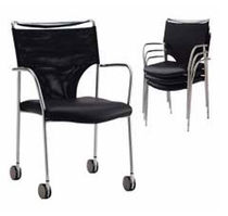 visitor chair with casters CHASSIS Arcadia Contract