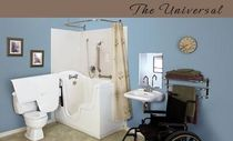 walk-in bath-tub for the disabled THE UNIVERSAL Seabridge BATHING