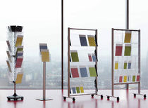 wall mounted brochure display rack floor Helit