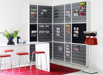 wall mounted brochure display rack FRONT: RIV14 W371 by L.PETTERSSON & L.NOTMAN KARL ANDERSSON