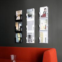 wall mounted brochure display rack AD CASE by Mikko Laakkonen inno