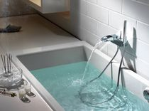 wall mounted double handle mixer tap for shower and bath-tub EVOL EMPOTRABLE ROCA